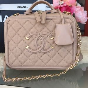 CHANEL Bags - Chanel Filigree Vanity Case Bag